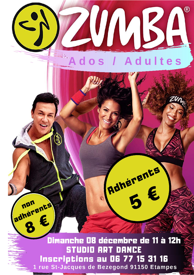 STAGE ZUMBA ADULTES 8 DECEMBRE